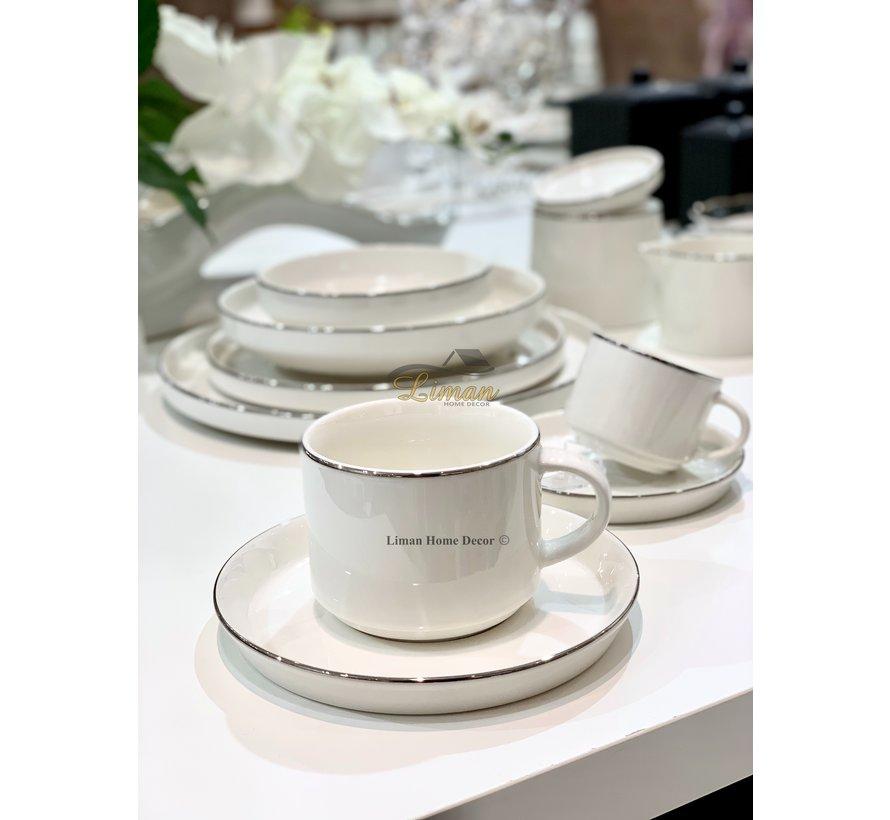 Bricard Lunel Koffie & Teaset 12 Delig Zilver