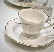 BRICARD PORCELAIN Bricard Bron 12 Delig  Koffie & Tea set Gold