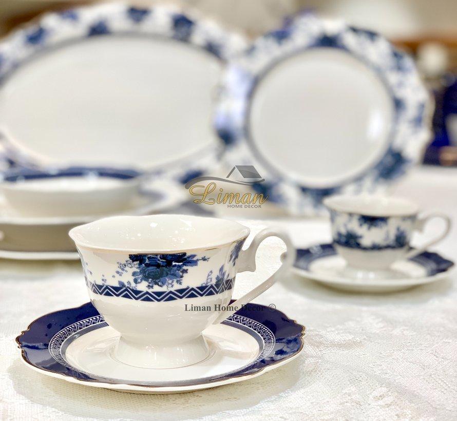 Bricard Bron 12 Delig  Koffie & Tea set Blauw