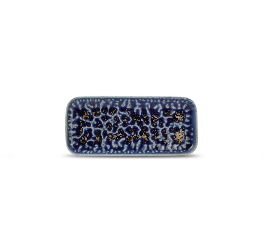 Cobalt Oxido Serveerschaal 22x10 cm Blauw