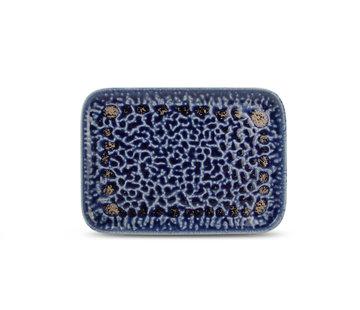 F2D Cobalt Oxido Plat Bord 28x20 cm Blauw