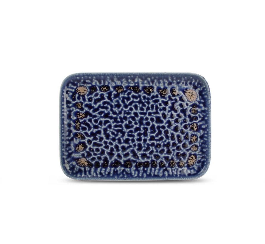 Cobalt Oxido Plat Bord 28x20 cm Blauw