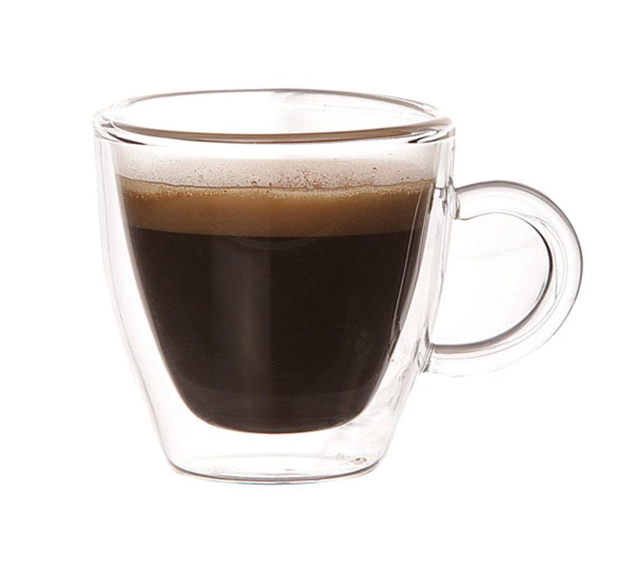 Cosy Isolatie Dubbele Wand Espressoglas  6  cl 2 Delig