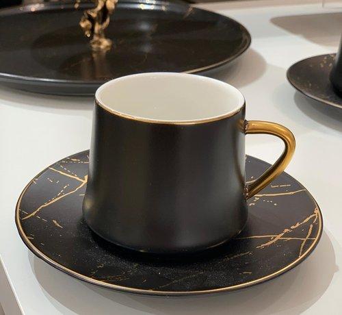 La Otantik La Otantik Luxe Marmer Koffies set 12-Delig | 6-Persoons Zwart