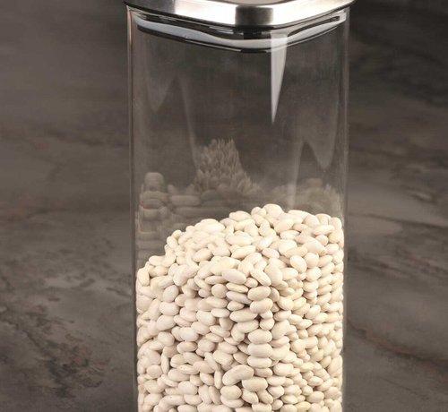 ACR ACR Voorraadpot Borosilikat Met Rvs Deksel 26x10.5 cm