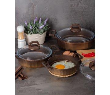 ACR Acr Mini Granit Kook Pannenset 6 Delig Bruin