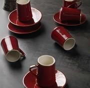 ACR Acr Mina Espresso set 12-Delig   6-Persoons Bordeau
