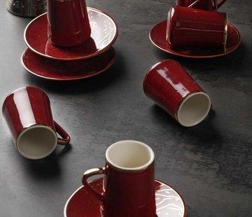 ACR Acr Mina Espresso set 12-Delig | 6-Persoons Bordeau