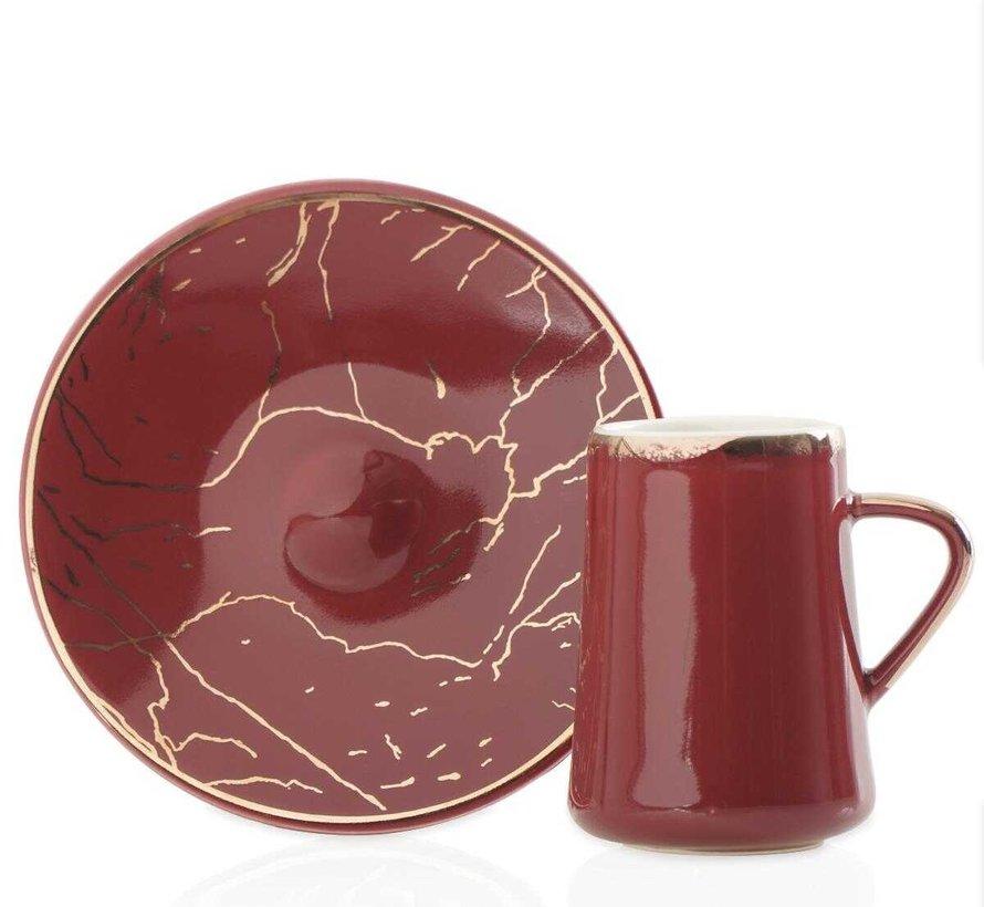 Acr Mina Espresso set 12-Delig   6-Persoons Bordeau