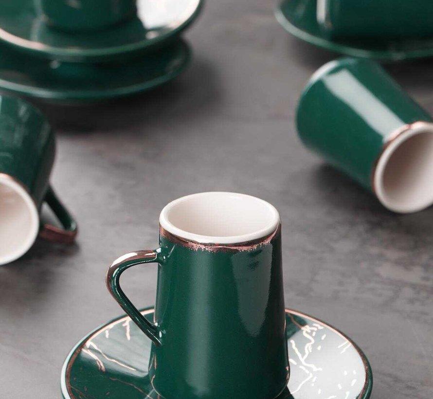 Acr Mina Espresso set 12-Delig | 6-Persoons Groen