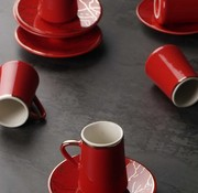 ACR Acr Mina Espresso set 12-Delig | 6-Persoons Rood