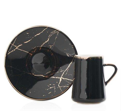 ACR Acr Mina 12 Delig Espressoset Zwart