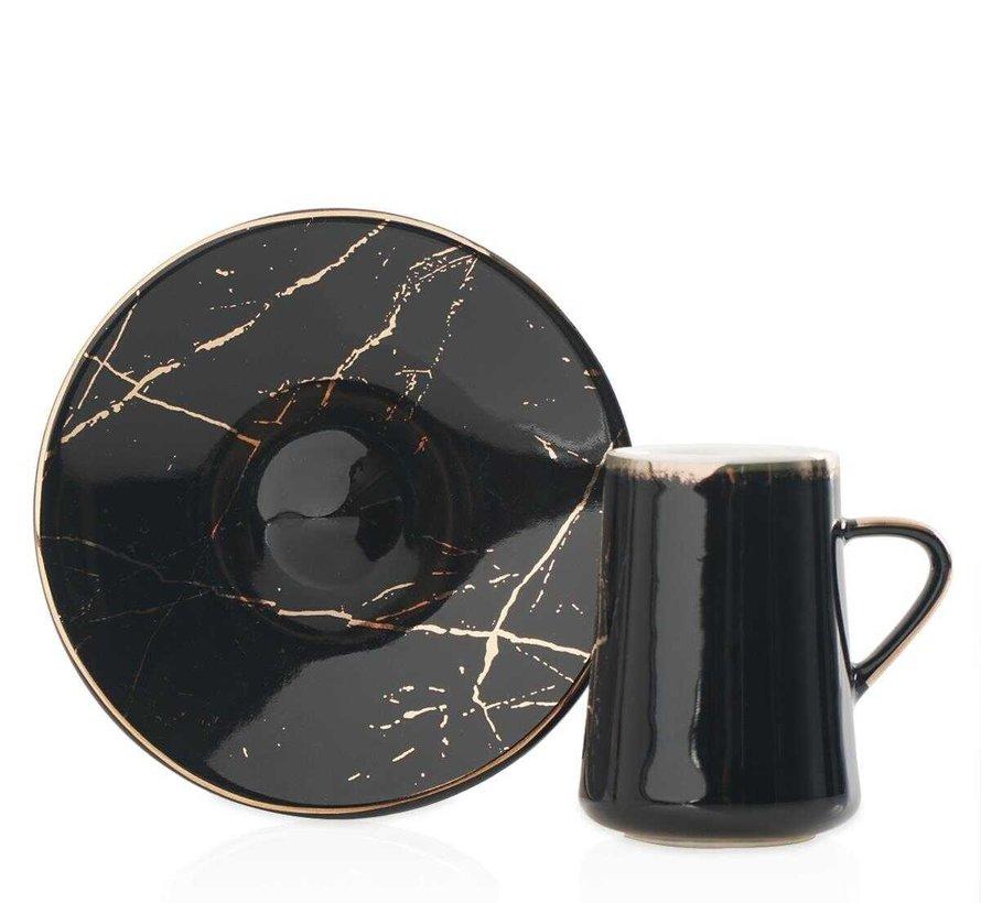 Acr Mina 12 Delig Espressoset Zwart