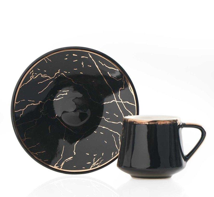 Acr Milla 12 Delig Espressoset Zwart
