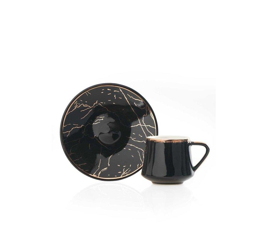 Acr Milla Espresso set 12-Delig | 6-Persoons  Zwart