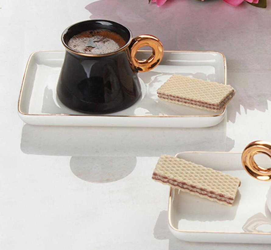 Acr Ring Espresso set 12-Delig | 6-Persoons Zwart