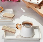 ACR Acr Ring Espresso set 12-Delig | 6-Persoons Wit