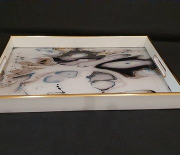 FUGURATO Fugurato Rechthoek Wit Marble Dienblad 009