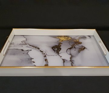 FUGURATO Fugurato Rechthoek Wit Marble Dienblad 006