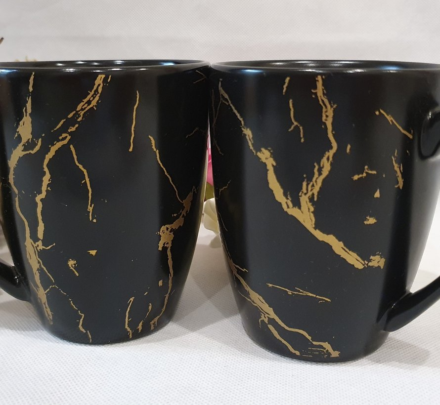 Bricard Marbel Zwart 2 Delig Mokkenset