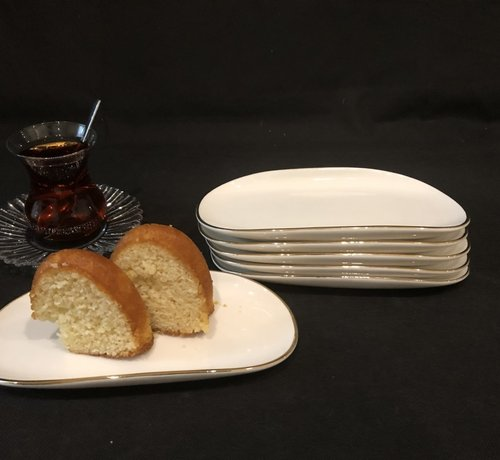 BRICARD PORCELAIN Bricard Porcelain Evry Wit - Goud 6 Delig Serveerschaal