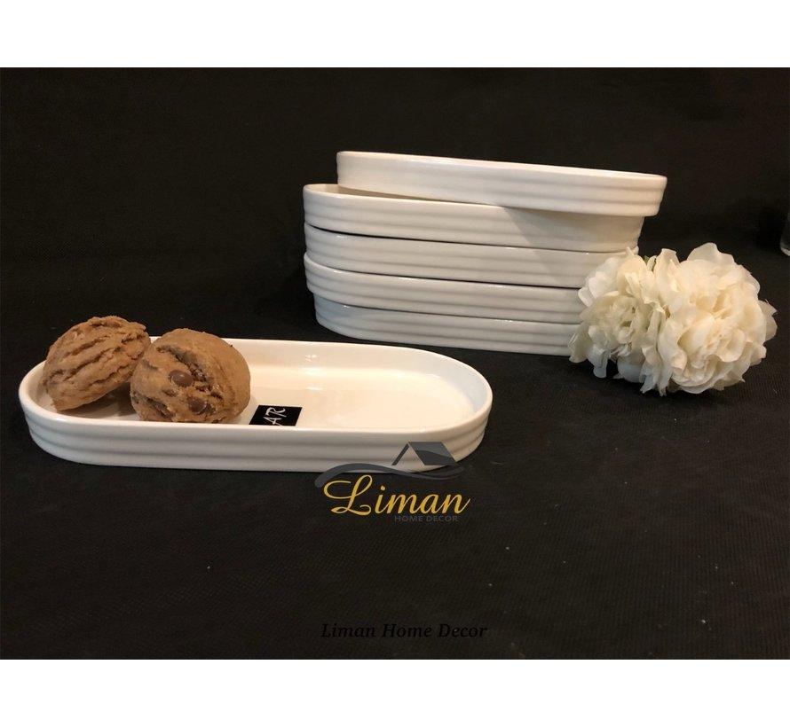 Acr Emma Ovaal Serveerschaal 21,5cm Per Stuk