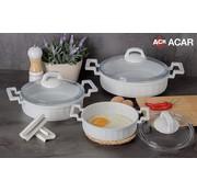 ACR Acr Mini Granit Kook Pannenset 6 Delig Wit