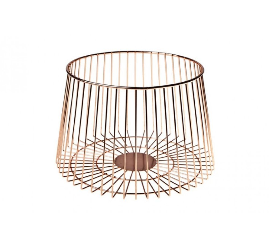 COSY FRUIT BASKET PLATED COPPER
