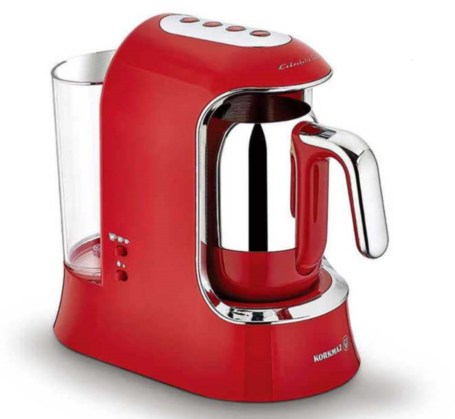 Korkmaz Kahvekolik AquaTurkse Koffiezetapparaat Rood A862