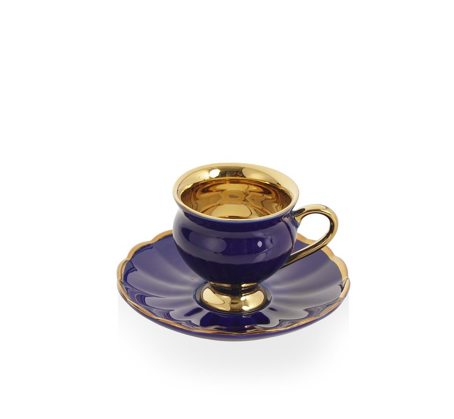 Acr Morpheus Espresso set 12-Delig   6-Persoons Blauw