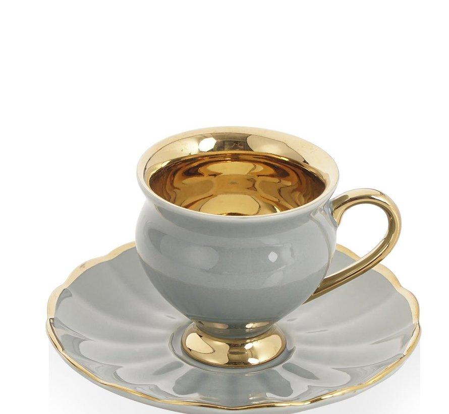 Acr Morpheus Espresso set 12-Delig | 6-Persoons Grijs