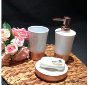 ACR ACR Rose porcelain bathroom set 3 Pcs