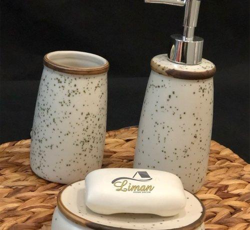 ACR ACR Cream / Bruin porseleinen badkamer set 3 dlg