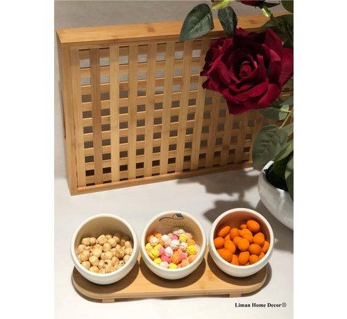 ACR Acr Bamboe 4 Delig Snack schaal