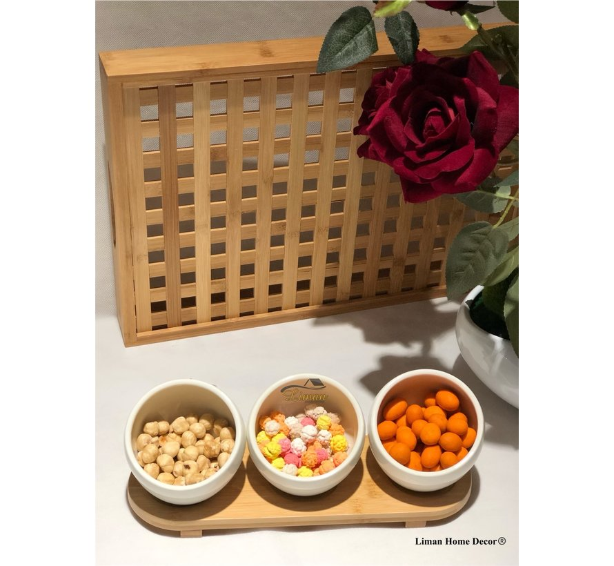 Acr Bamboe 4 Delig Snack schaal