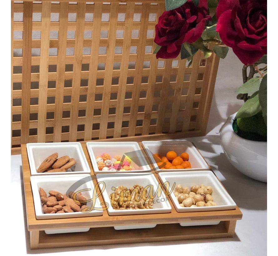 Acr 13 Delig Ontbijtset Met Bamboe Stand
