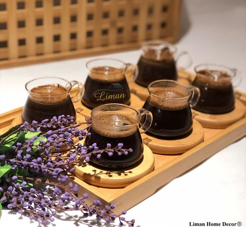 Bamboe Espresso set 13-Delig | 6-Persoons