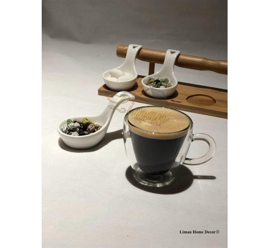 Cosy Isolatie Dubbele Wand Espresso Kopjes 6  cl 2 Delig