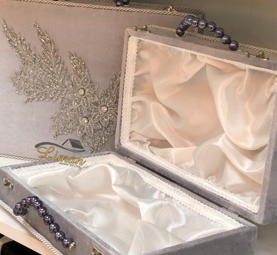 3 Delige Bruidskofferset Grijs