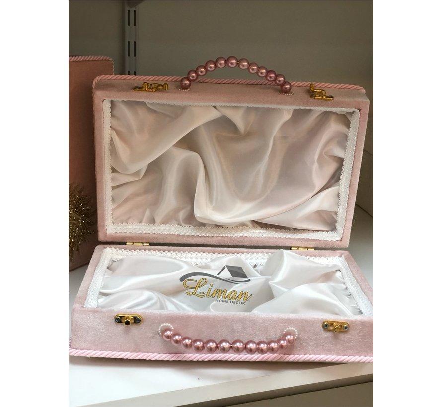 3 Delige Bruidskofferset Roze