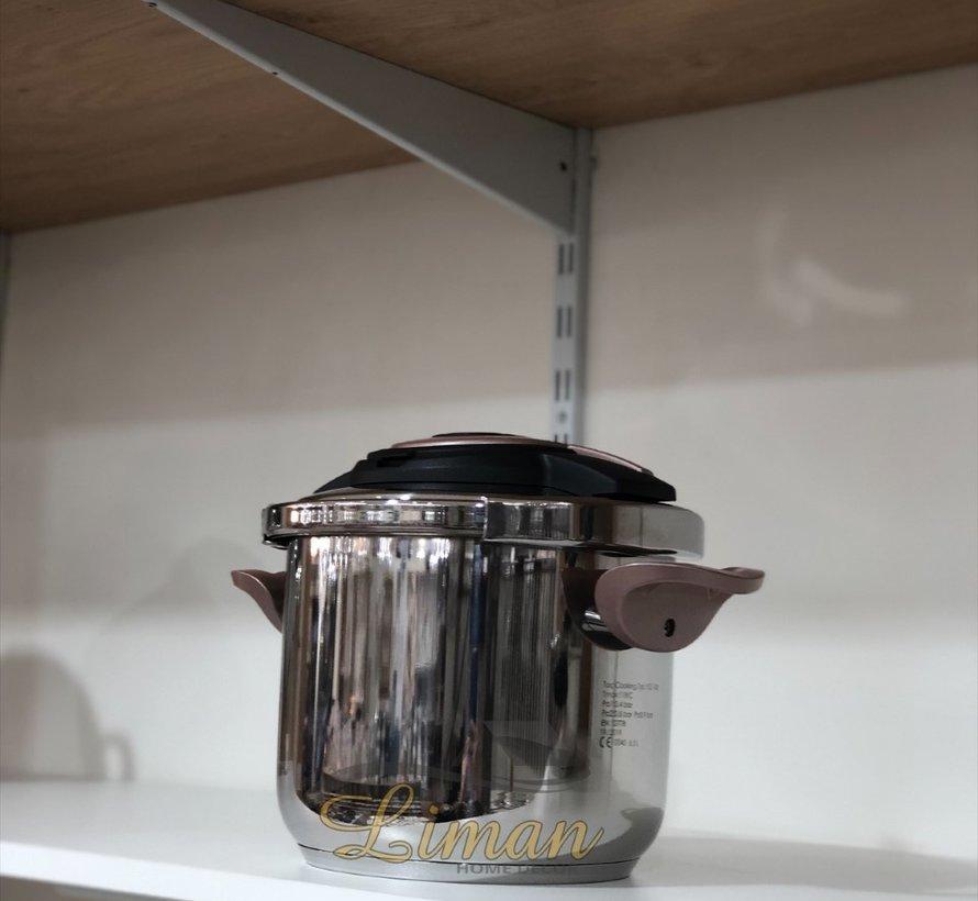 TAC COOKING SNELKOOKPAN ROSE 6,5 Liter