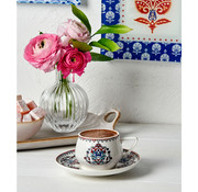 KARACA Karaca Nakkash 6-Person Coffee Cup Set