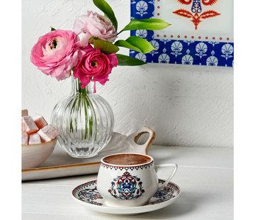 KARACA Karaca Nakkas 6-teiliges Kaffeeservice