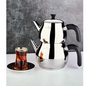 KARACA Karaca Kayra Black Turkish Tea Pot Set