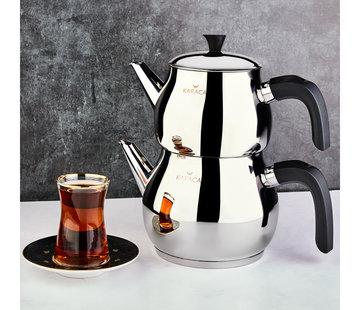 KARACA Karaca Kayra Schwarze Turkisches Teekannen-Set