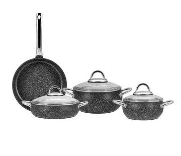 KARACA Karaca Avanos New Bio Granite 7-Piece Cookware Set