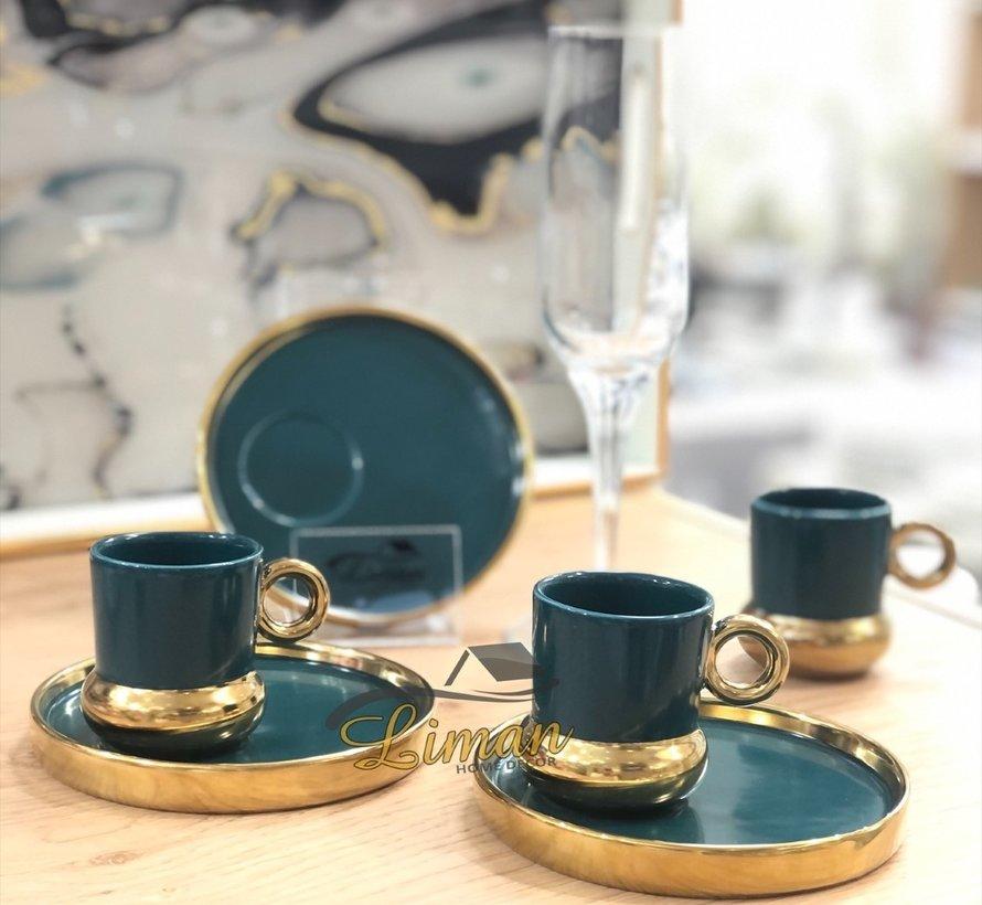 Acr Posedion Espressoset 12-Delig | 6-Persoons Groen
