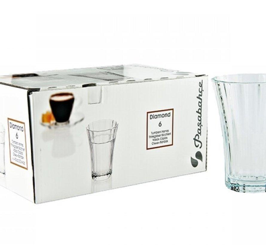 Pasabahce Diamond Drinkglazen 6 Delig 100cl
