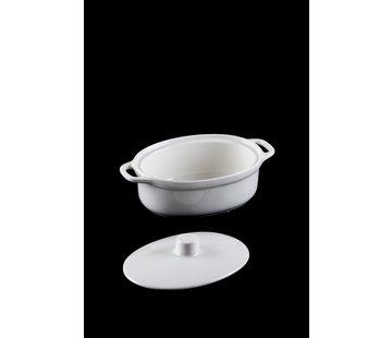 ACR ACR Bianco perla Ovenschaal Ovaal met Deksel 26 Cm