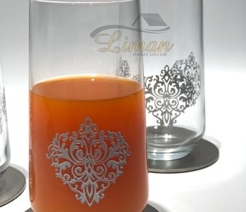 EFEGIL LONGDRINK GLAS SILBER 6 TLG